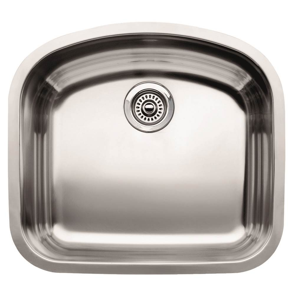 Blanco   440249   BLANCOWAVE Stainless Steel Single Bowl 10u0027u0027 Deep Kitchen  Sink
