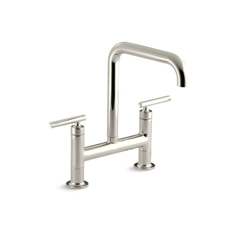 Kohler 7547 4 Sn At Dahl Distinctive Design Bridge Kitchen Faucets