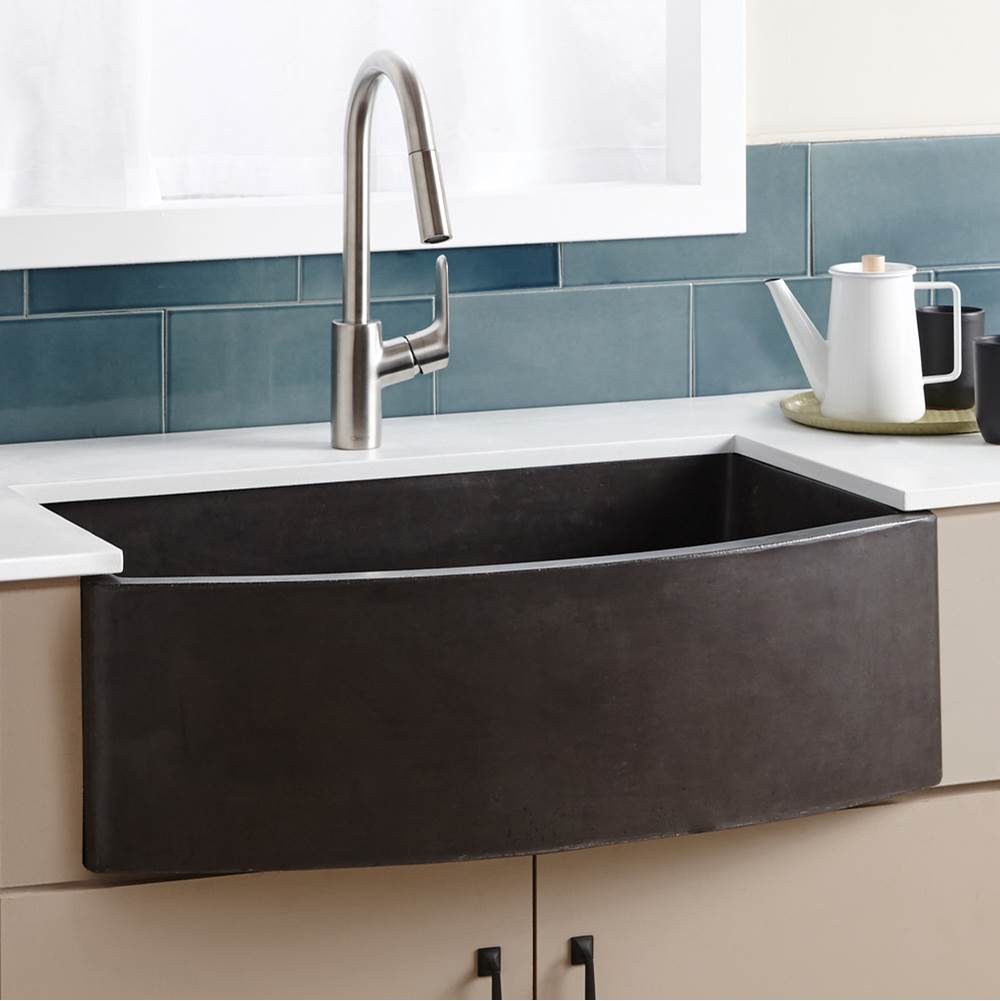 Native Trails   NSKQ3320 S   Farmhouse Quartet Kitchen Sink In Slate