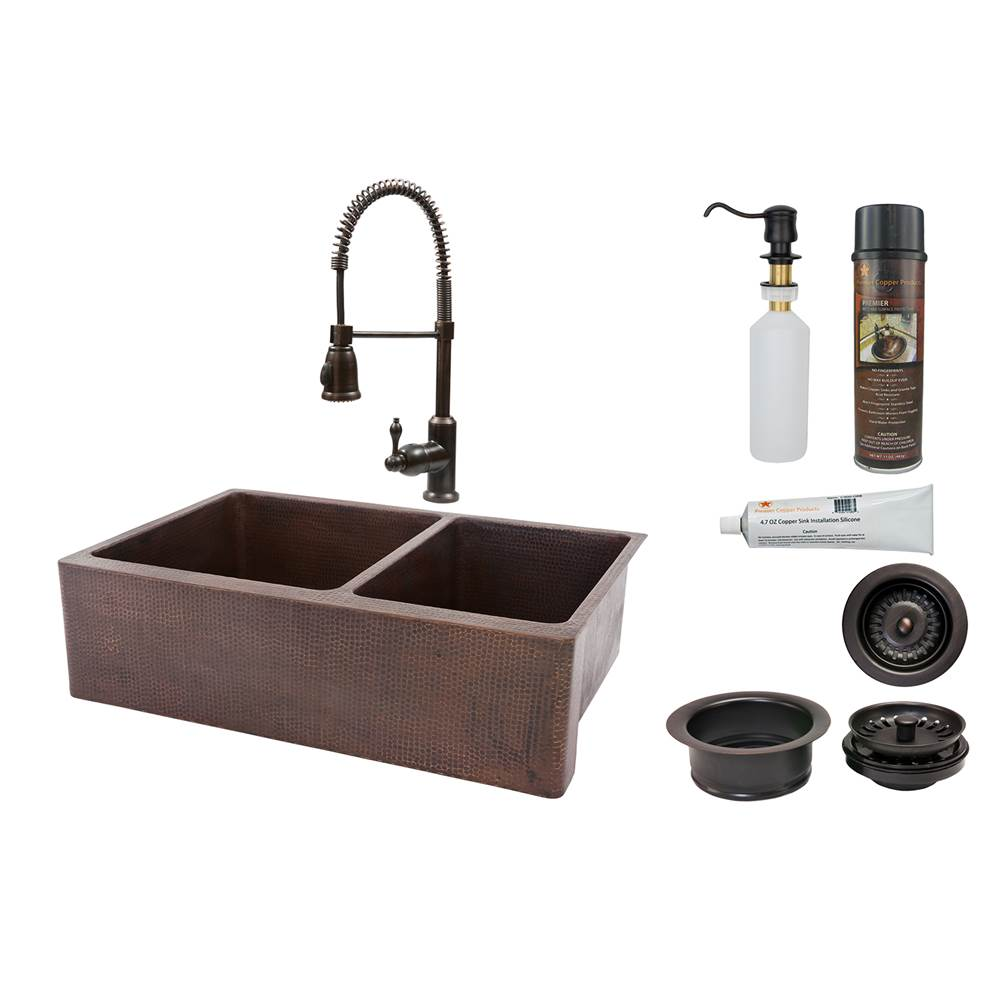 Premier Copper Products KSPKADB At Dahl Distinctive Design - Kitchen sink and faucet combo