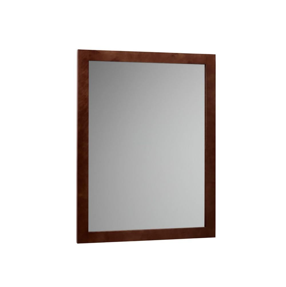Genial Ronbow   600124 H01   24u0027u0027 Alina Contemporary Solid Wood Framed Bathroom  Mirror In Dark Cherry